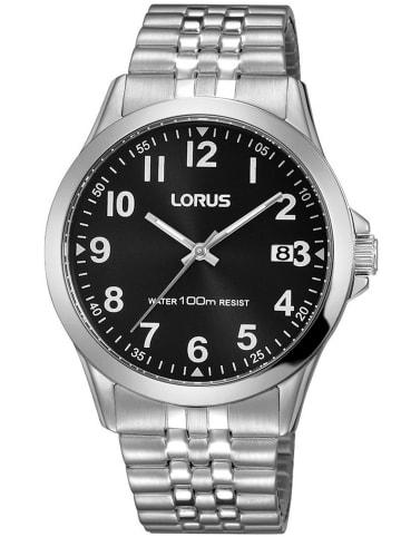 Lorus Herrenuhr mit Flexband Schwarz / Silber