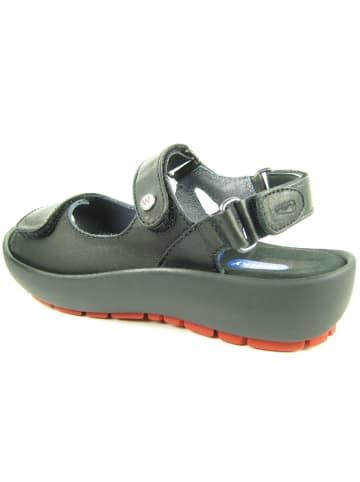 Wolky Sandalen/Sandaletten in schwarz