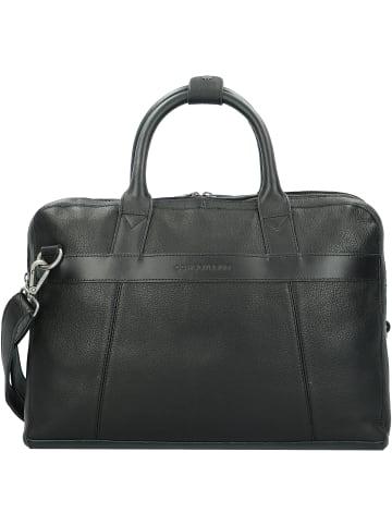 Cowboysbag Aktentasche Leder 41 cm Laptopfach in black