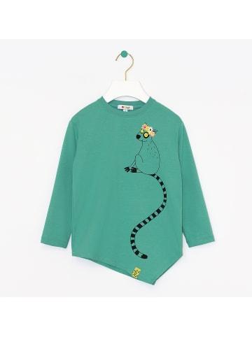 "OXOX Long sleeve T-shirt ""Lemur"" in grün"