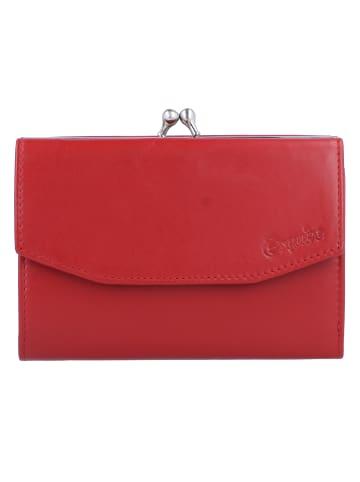 Esquire New Silk Geldbörse Leder 13 cm in rot