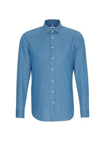 Seidensticker Business Hemd Shaped in Mittelblau