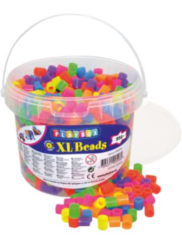 Playbox XL-Bügelperlen im Eimer, Neonfarben, 950 Stück