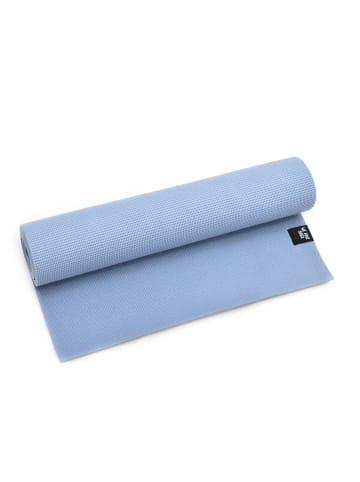 "Zenpower Yogamatte "" We Love Yoga 183x60x0,6 cm "" in hellblau"