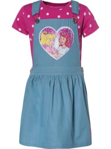 Bibi und Tina Bibi und Tina Kinder Set Latzrock + T-Shirt mit Wendepailletten