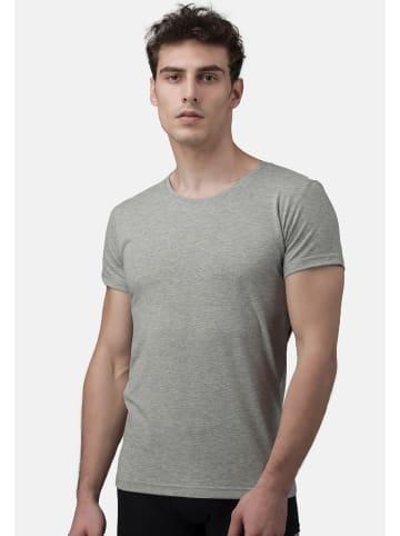 Burnell & Son T-Shirt - Unterhemd - Rundhals 4er Pack - Basic in Grau