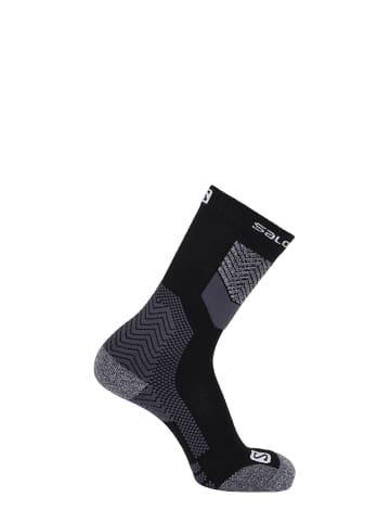 SALOMON Trekking-Socken in Black/Forged iron