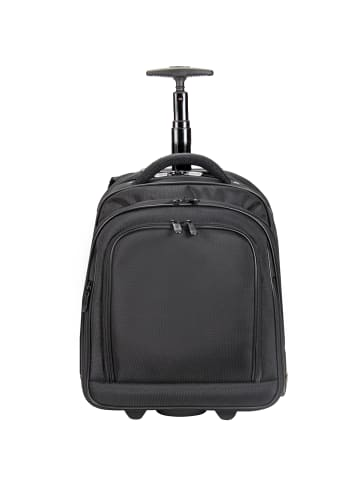 Dermata Rucksack-Trolley 38 cm Laptopfach in schwarz