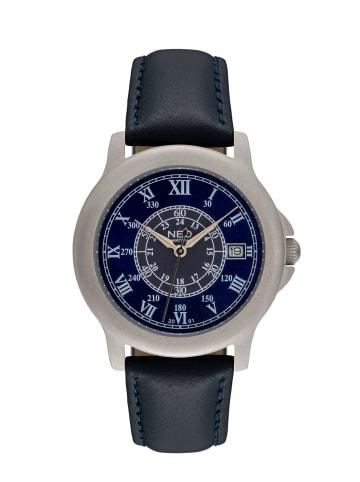 NEO Watch NEO Watch Armbanduhr aus Edelstahl in Blau/Silber