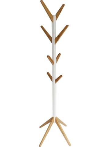 HappyHome Garderobenständer mit versetzten Zweigen in Weiß, Holz - B42 x T42 x H178,5 cm