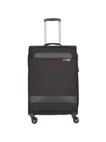 March15 Trading Tourer 4-Rollen Trolley 68 cm in black / red