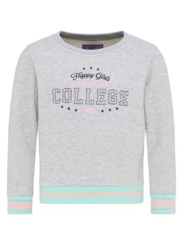 MyMo KIDS Sweatshirt in Grau Melange Minze