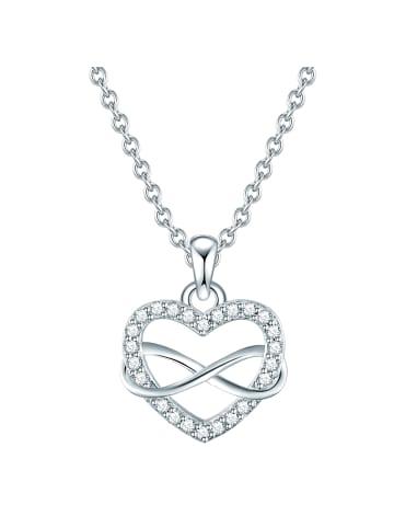 Rafaela Donata Halskette Herz Sterling Silber Zirkonia (CZ) in Silber in silber