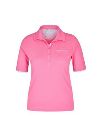 Rabe Shirt mit unifarbenem Stoff und Polokragen in AZALEE