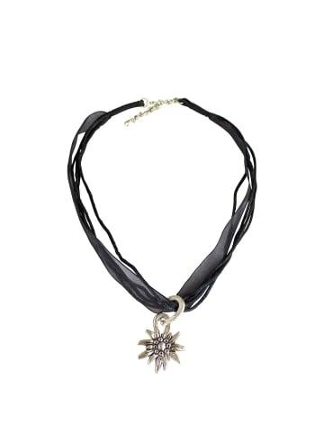 Edelnice Halskette in schwarz, silber