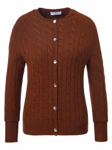 PETER HAHN Twinset new wool in kastanie-melange