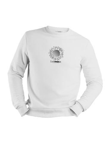 Mamino Herren Sweatshirt -Space II in weiss