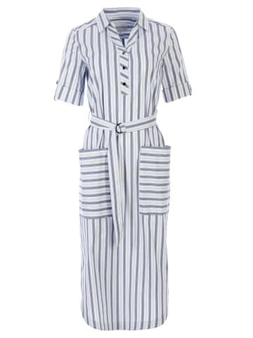 HELMIDGE Sommerkleid mit Polo-Kragen in weiss