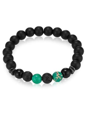 Gemdor Armband Onyx Jaspis in Schwarz in schwarz