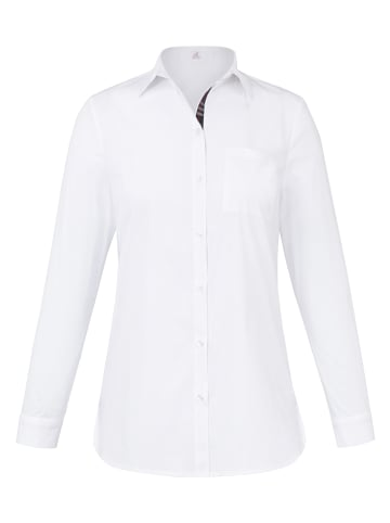 ANNA AURA Hemdkragen-Bluse mit 1/1-Arm in weiß