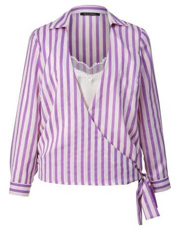 Sara Lindholm by HAPPYsize 2-in-1-Bluse gestreift in Lila