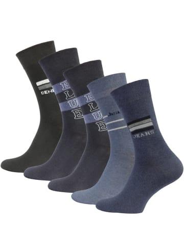 Cotton Prime® Baumwoll Socken 10 Paar in Blautöne