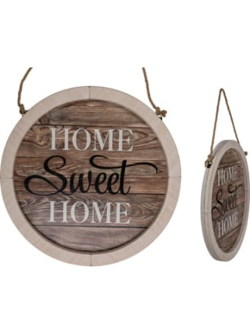 """Out of the Blue Holz Schild """"Home Sweet Home"""", Ø 32 cm"""