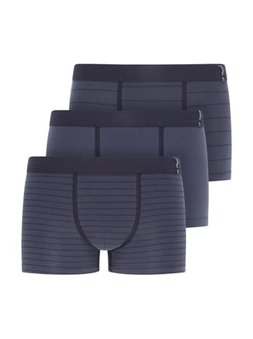 Jockey Short Pant Trunk 3er Pack Active Cotton in Navy