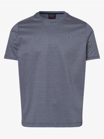 Paul & Shark T-Shirt in marine weiß