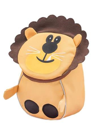 "Belmil Kindergartenrucksack ""Mini Animal Mini Lion"" in Gelb/Braun - H 25 L 18 T 11 cm"
