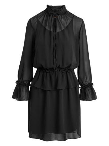 Caddis Fly Blusenkleid Lacuna in schwarz