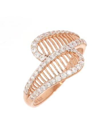 """Luxxos Ring """"mit Zirkonia aus 375 Roségold"""" in gold und bunt"""