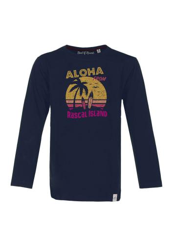 """Band of Rascals Longsleeve """" Aloha """" in blau"""