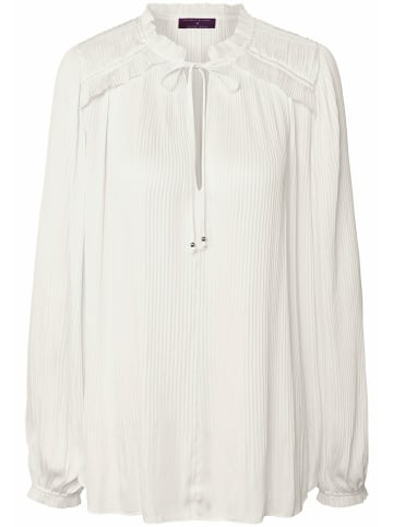 TALBOT RUNHOF X PETER HAHN Langarmbluse Pull-on style blouse with pleats in offwhite