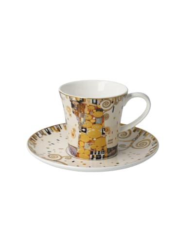 """Goebel Kaffeetasse """" Gustav Klimt - Die Erfüllung """" in bunt"""