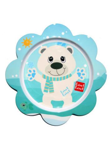 Label-Label  Friends Teller blumenförmig Eisbär