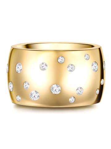 Stella Copenhagen Ring Edelstahl verziert mit Kristallen von Swarovski® in Gelbgold in gelbgold