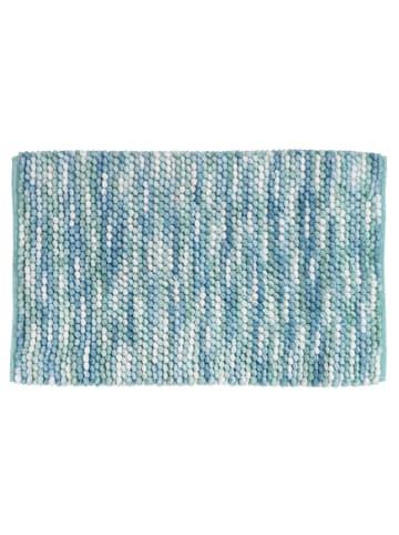 Wenko Badteppich Urdu Aqua, 60 x 90 cm in Blau