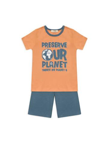 Panco Pyjama - mit Slogan - für Jungen in Orange
