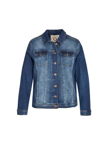 VIA APPIA DUE  Jacke Jeansjacke mit unifarbenem Stoff in jeans mittelblau