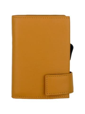 SecWal SecWal 2 Kreditkartenetui Geldbörse RFID Leder 9 cm in gelb