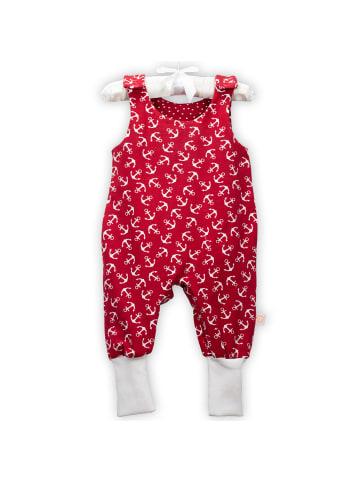 TigaLovesYou.com® Baby Strampler Anker Rot mit Druckknöpfen