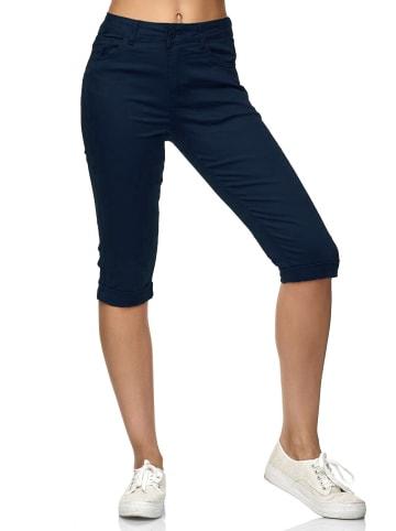 Simply Chic Kurze Capri Jeans Shorts Sommer Bermuda 3/4 Hose in Navy