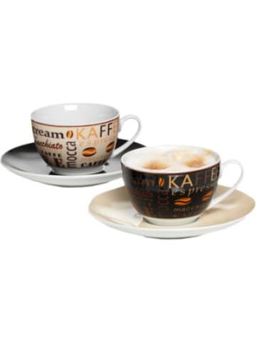 """Flirt 2-tlg. Set Cappuccino Tassen """"Havanna"""" im Geschenkkarton"""