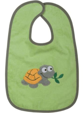 Boofle Riesen-Klettlätzchen Schildkröte, grün, 30x45 cm