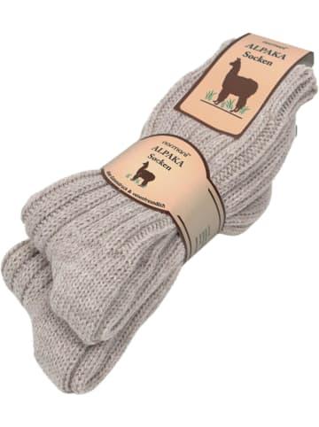 Normani 2 Paar Alpaka-Socken in Beige