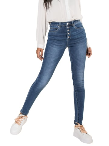 Nina Carter Jeans High Waist Skinny Fit Hose Hochbund Stretch Shaping Pants in Blau-3