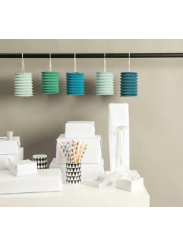 Rico Design Papierzuglaternen Aqua, 5 Stück
