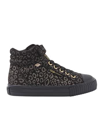 British Knights Sneaker Dee in goldfarben leopard/schwarz
