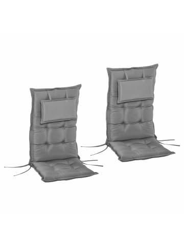 Outsunny Stuhlauflagen 2er Set in dunkelgrau